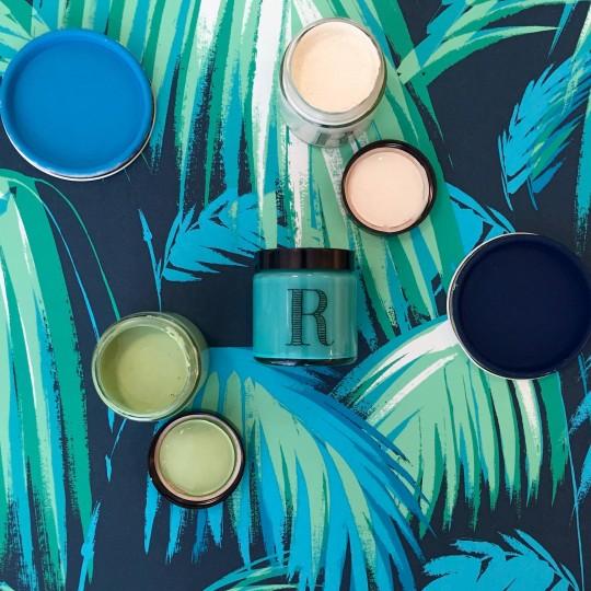 camaïeu de bleus et verts, peintures RESSOURCE RESSOURCE paints, blue and green hues