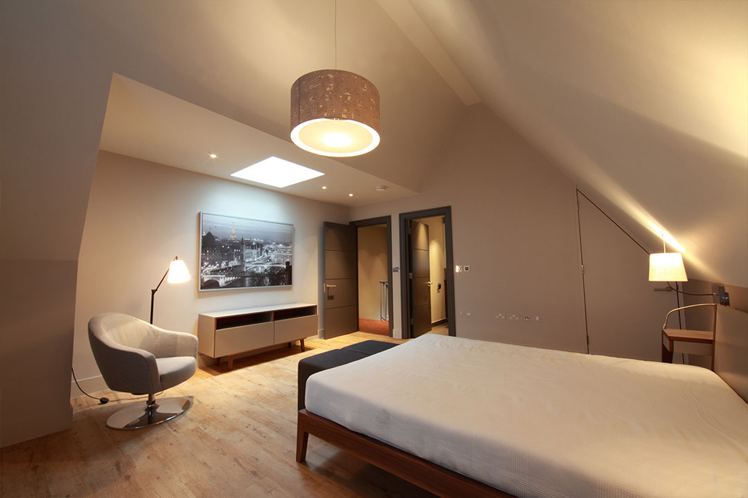 cinq appartements style loft chiswick londres atelier pia designers d 39 int rieur. Black Bedroom Furniture Sets. Home Design Ideas