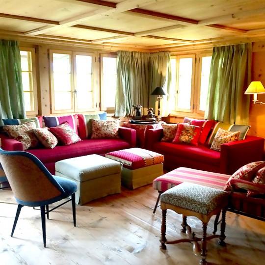 décoration intérieure, ambiance feutrée chalet Gstaad Gstaad chalet interior decoration
