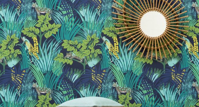 ambiange jungle exotique, papier peint PIERRE FREY jungle atmosphere PIERRE FREY wallpaper